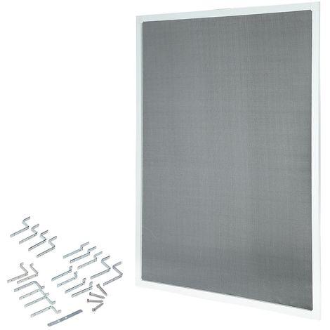 Melko Moustiquaire fenêtre blanche 80x100cm moustiquaire cadre en aluminium sans percer les moustiquaires