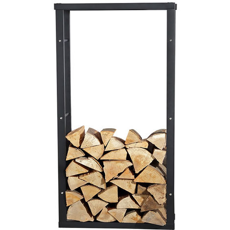 Melko robust firewood rack for firewood and firewood, free standing wooden stand, made of iron, 100 x 60 cm - with rubber studs for floor protection