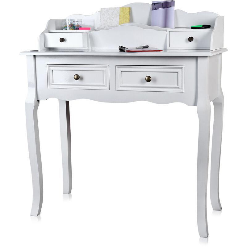 Melko Sekretär Weiß Schreibtisch Arbeitstisch Schminktisch Bürotisch Computertisch ??