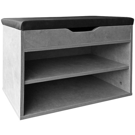 Melko shoe bench with seat Shoe chest 60x30x45CM Bench with shoe rack Corridor bench with storage space