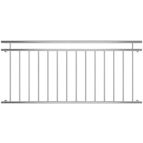 Melko stainless steel balcony railing French balcony 90x184 cm terrace railing V2A window railing outside