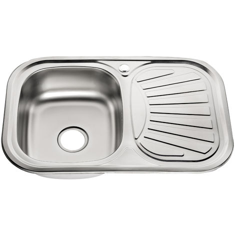 Melko stainless steel kitchen sink Built-in sink Stainless steel sink Kitchen sink incl. drain set and siphon
