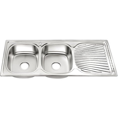 Melko stainless steel sink 2 basins Kitchen sink sink washbasin sink double sink with drainer