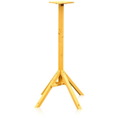 Melko Support pour nichoir Support pour nichoir Mangeoire pour oiseaux, en bois, 66,5 x 66,5 x 105 cm, pré-vitrifié