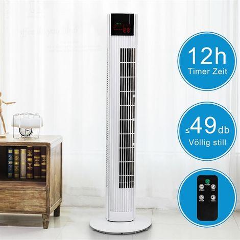 Melko Ventilateur de tour 91,5 cm avec télécommande Ventilateur de colonne Ventilateur debout Ventilateur de tour 45 Watt, Ventilateur de colonne extra silencieux avec télécommande