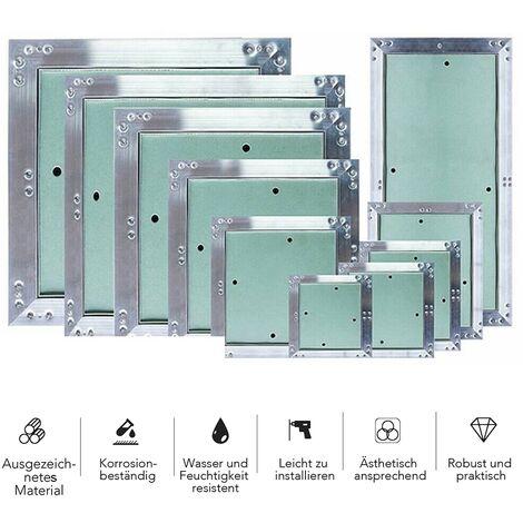 Melko Volet d'inspection avec fermeture à pression en placoplâtre et aluminium - vert - 20 x 30 cm - parfait pour le chauffage et le co.