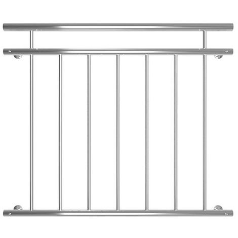 Melko window railing outside 90 x 100 cm balcony railing stainless steel V2A bar railing French balcony