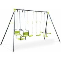 Meltemi 4-piece swing set, 6-seat set, outdoor play equipment, children's swings