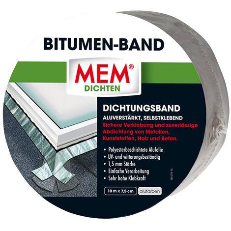 MEM Bauchemie Ruban adhésif bitume en aluminium - MEM 500480 - 10 m x 75 mm