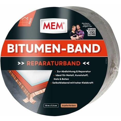 MEM Bitumen-Band schwarz/kupfer, 7,5 cm x 10 m