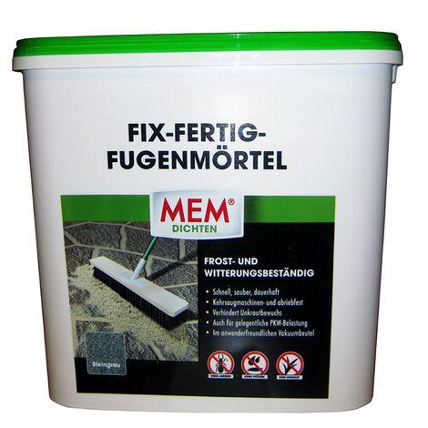 MEM Fix Fertig Fugenmörtel Steingrau 12,5 Kg