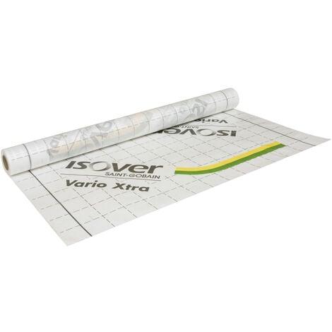 Membrane Vario® Xtra hygro-régulante pour gestion de la vapeur d'eau et de l'étanchéité à l'air - rouleau 30m² 1,5 x 20 m - ISOVER