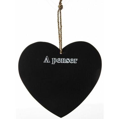 Mémo ardoise à accrocher - Petit tableau à craie en forme de coeur