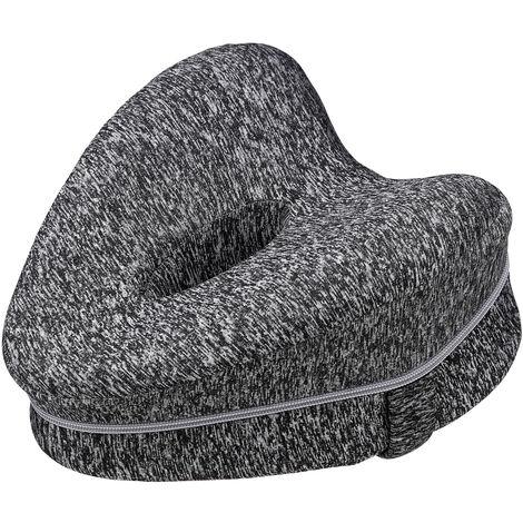 Memory Foam Leg Pillow Cushion Pad Relieve Knees Pain Foot Relax Washable grey 25x23x13cm