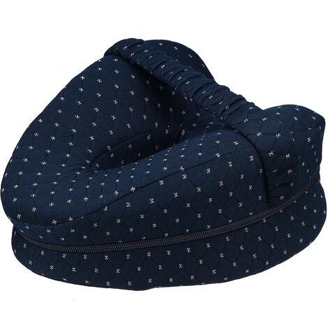 Memory Foam Leg Pillow Cushion Pad Relieve Knees Pain Foot Relax Washable navyblue 25x23x13cm
