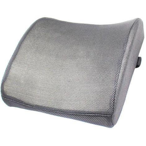 Memory Foam Lumbar Cushion, Lumbar Support Cushion, Grey, Inner filling material: Memory foam