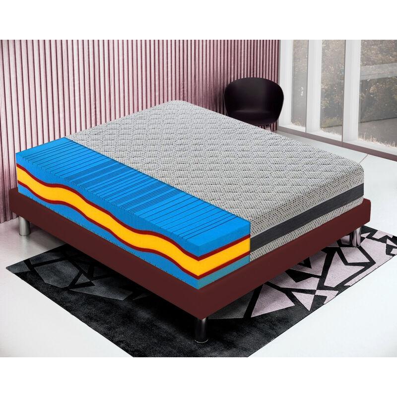 Memory foam Matratze 120x190 Memoryschaum H�he 23 cm mit 5 Schichten und abziebahren Bezug - MATERASSIEDOGHE