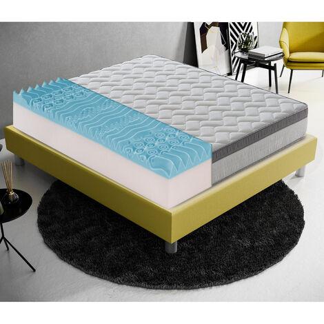 Memory Foam Matratze - 26 cm hoch - 6 cm Memory Foam - Abnehmbarer Bezug - 9 Komfortzonen -