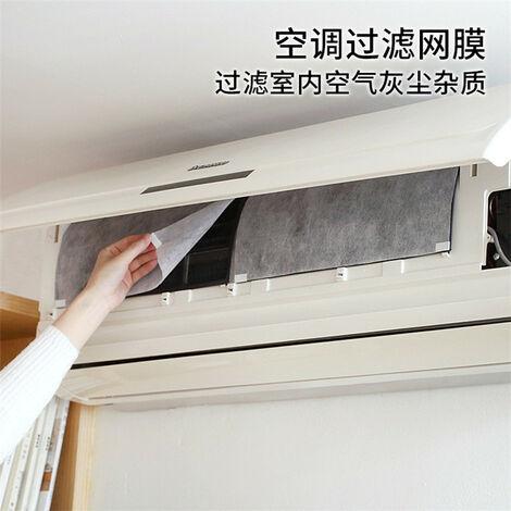 Menage Climatisation filtre antipoussiere papier PET de purification d'air Nettoyage du filtre Filtre a poussiere, blanc