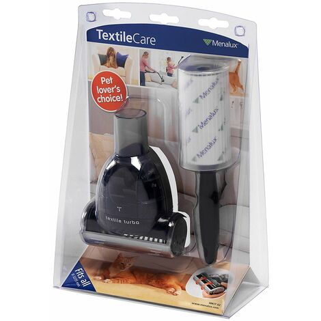 Menalux MKIT02 Accessoires Aspirateur Kit Animaux 1 Mini Turbobrosse + 1 Brosse Rouleau Adhésive