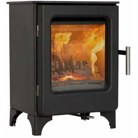 Mendip Ashcott Wood Burning Stove Glass Window 4.7kW Large Fire Eco & Defra