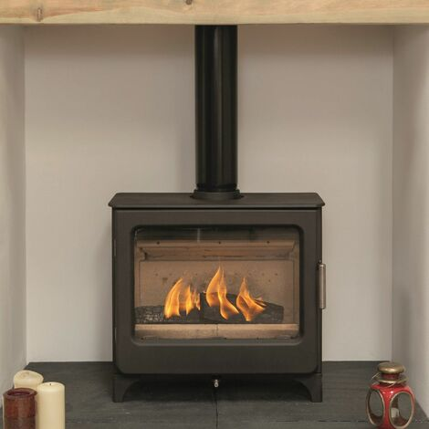 Mendip Ashcott Wood Burning Stove Log Store Glass Window 4.7kW Large Fire Eco