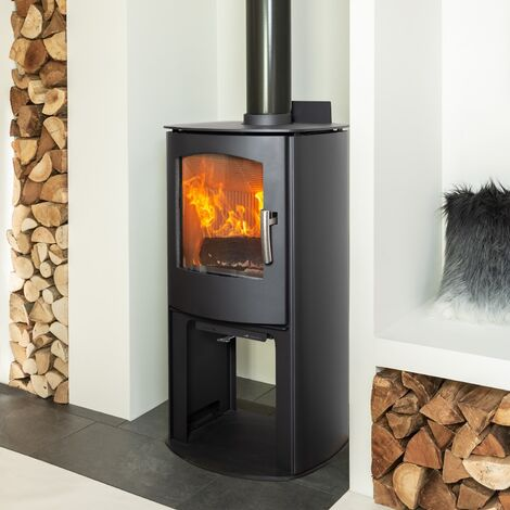 Mendip Churchill 7.5kW 8 Convection Multi Fuel Stove Logstore Wood Burning Fire