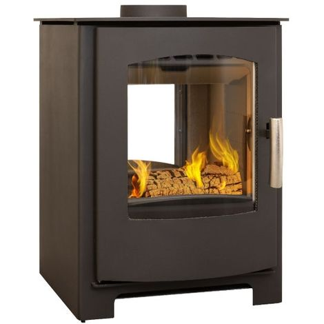 Mendip Churchill 8 Double Sided 8kW Wood Burning / Multi Fuel Stove