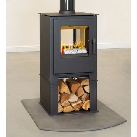 Mendip Loxton 8 Double Sided 8kW Stove with Log Store