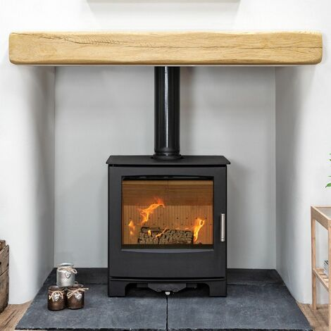 Mendip Woodland 5kW Multi Fuel Stove Glass Window Fire Steel Eco Wood Burning