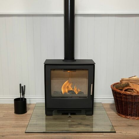 Mendip Woodland Large Multi Fuel Stove Glass Viewing Window Fire 5.0kW Eco Defra