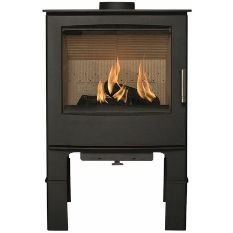 Mendip Woodland Large Multi Fuel Stove Log Store Glass Viewing Window Fire 7.5kW