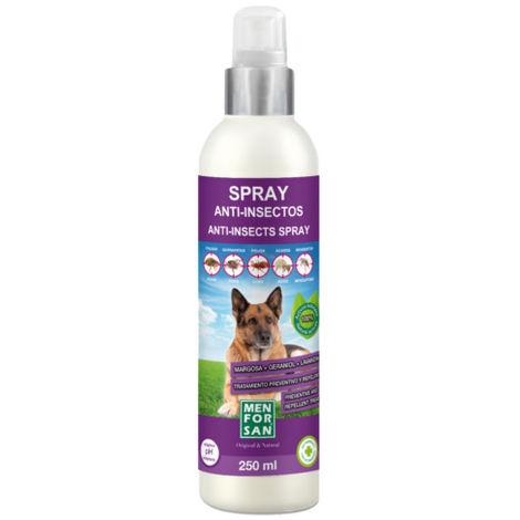Menforsan Spray Anti Insectos para Perros 250 ml (Geraniol + Margosa + Lavandino)
