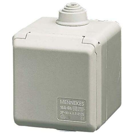 Mennekes CEE-Steckdose IP44 5p CEE 16 A 400V 4105 rot 6h.. 50+60Hz