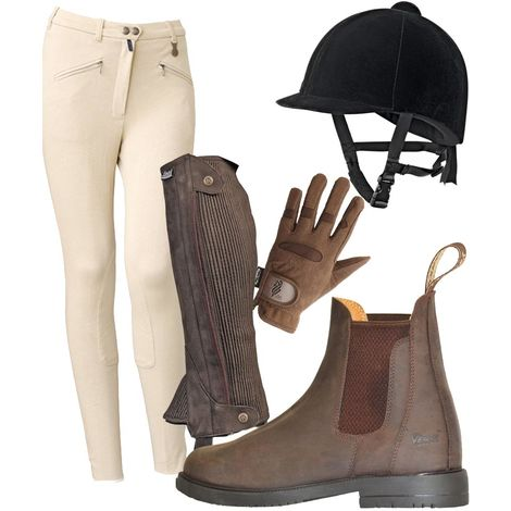 Men's and women's clothing set consisting of trousers, caps, gaiters, gloves and ankle boots