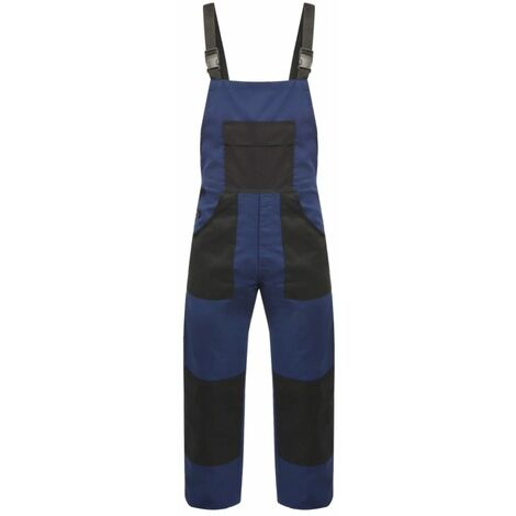Men's Bib Overalls Size L Blue