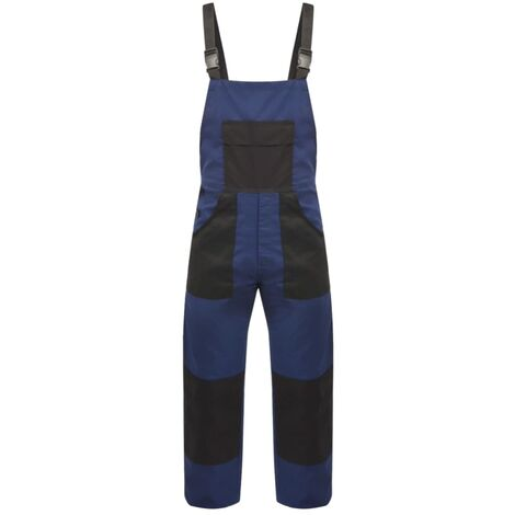 Men's Bib Overalls Size M Blue