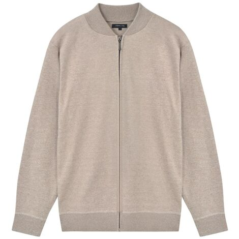 Men's Cardigan Beige L