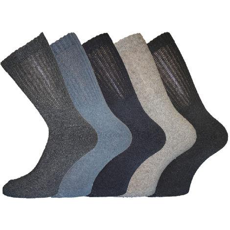 Mens Cotton Rich Sport Socks 6-11 5Pk Black Logo