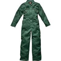 Mens Dickies Redhawk Coverall Overalls Boiler Suit WD4839 - Zip Front - Bottle Green