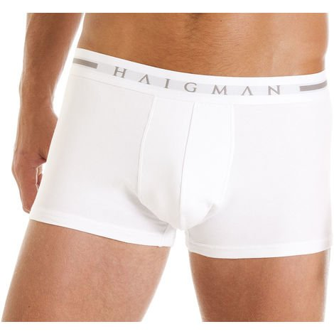 Mens Haigman Designer Cotton Stretch Hipster Boxer Short Trunk 4 PK In Box