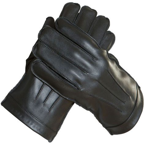 Mens Luxury Thermal Lined Genuine Soft Leather Warm Winter Dress Gloves