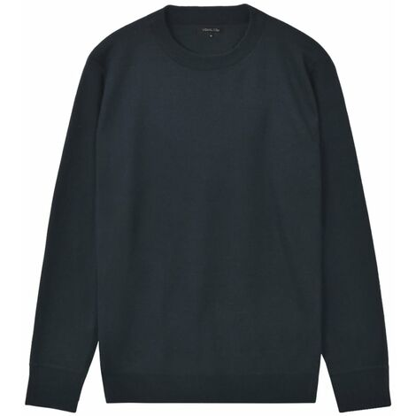 Men's Pullover Sweater Round Neck Navy M