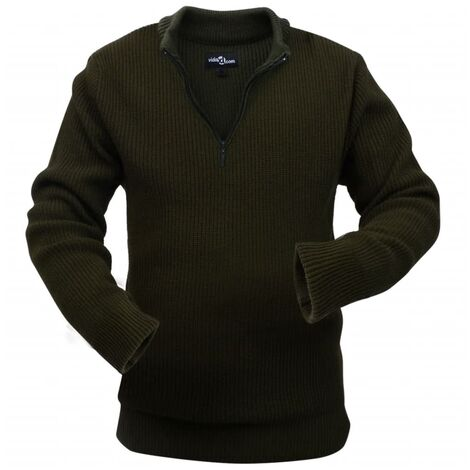 Men's Work Pullover Army Green Size XL