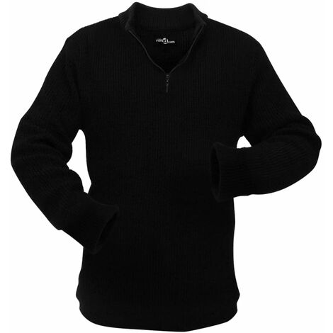 Men's Work Pullover Black Size XXL
