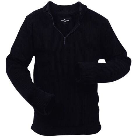 Men's Work Pullover Navy Size XXL