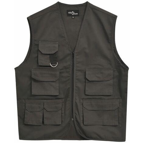 Men's Work Vest Size XL Grey