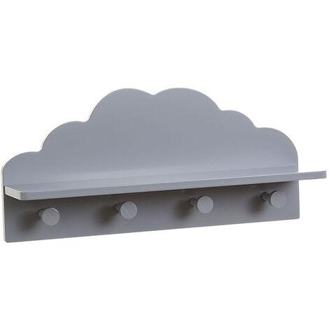Mensola a forma di nuvola in legno cm.48x12x22h. grigia