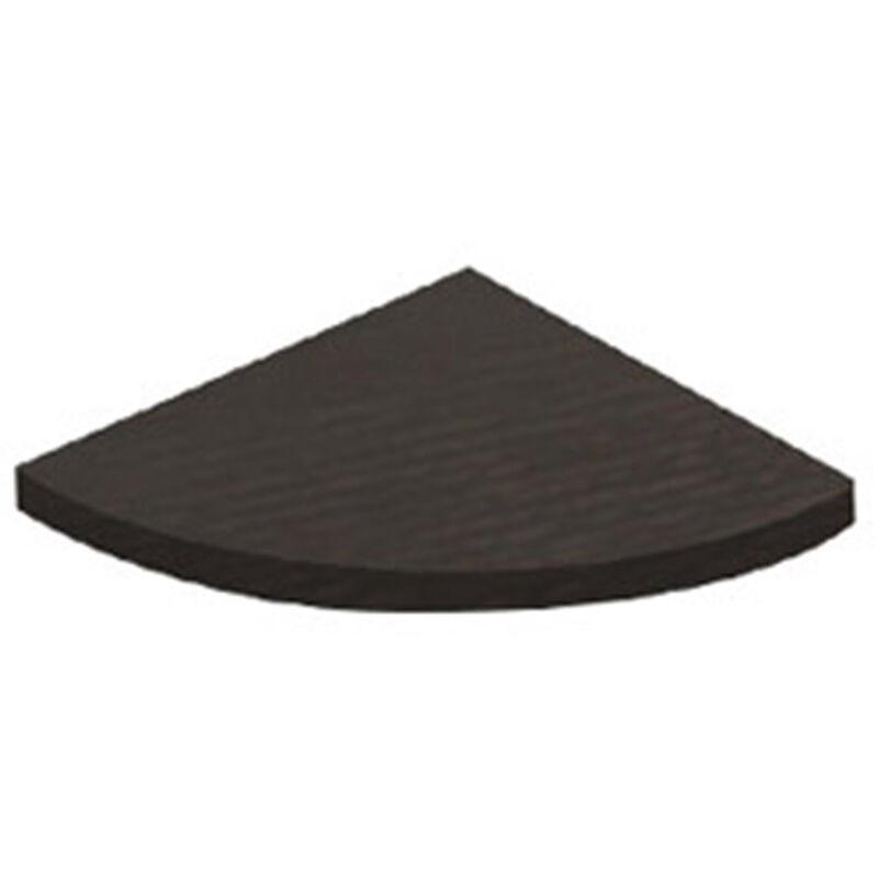 Scatola da 2 mensole angolari, MDF, Wengé, 350 mm. Marchio