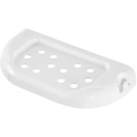 Mensola Bagno in Plastica 23 cm doppio fissaggio Bianca